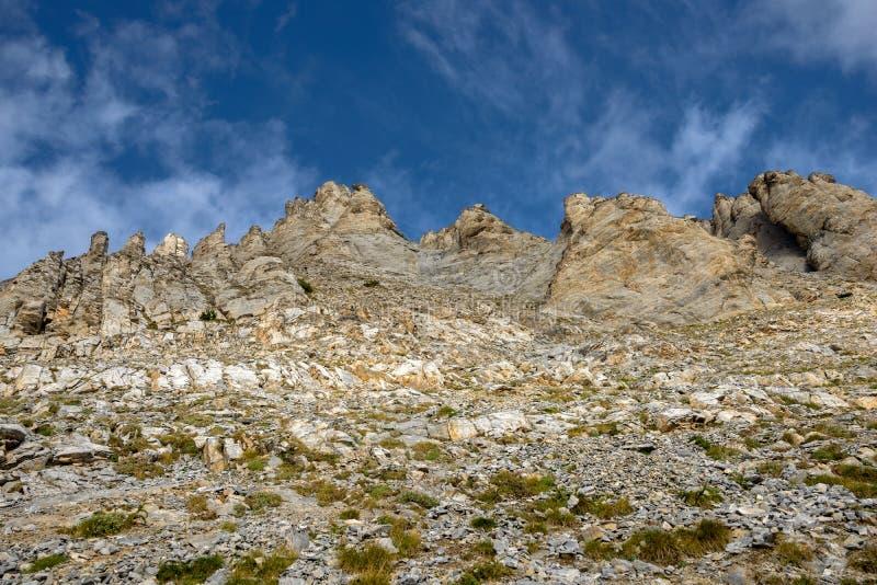 奥林匹斯山土坎山峰在希腊 库存图片