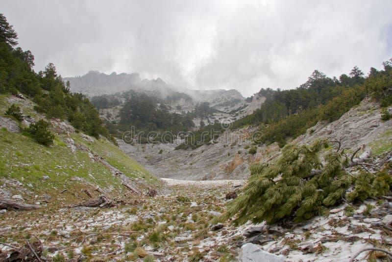 奥林匹斯山顶视图 库存照片
