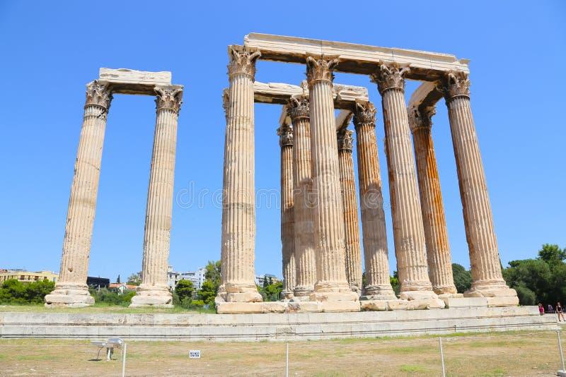 奥林山宙斯,雅典,希腊寺庙  免版税库存照片