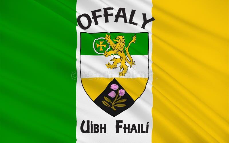 奥法利郡旗子是一个县在爱尔兰 向量例证