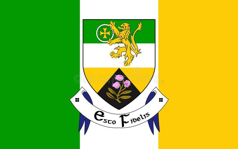 奥法利郡旗子是一个县在爱尔兰 图库摄影