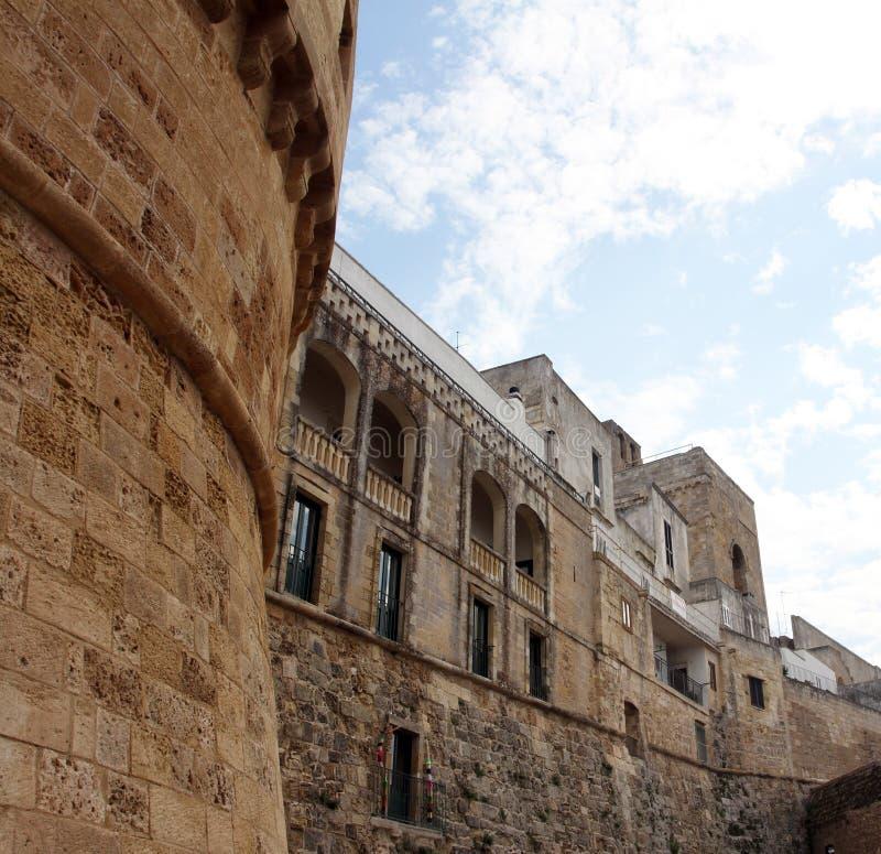 奥特朗托城堡  Corigliano d `奥特朗托 免版税库存照片