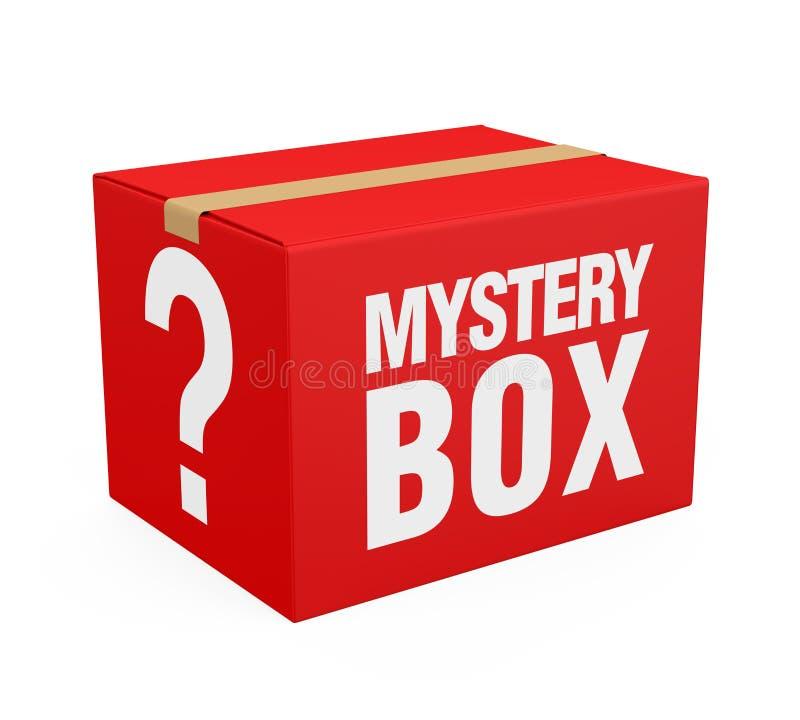 奥秘箱子隔绝了 库存例证