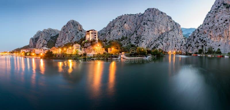 奥米什风景,克罗地亚城市 库存照片