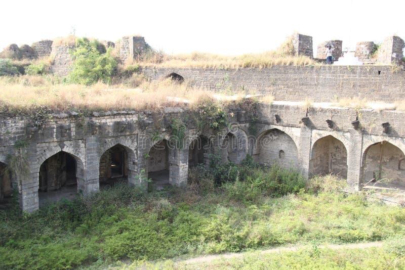 奥萨堡垒废墟  免版税图库摄影