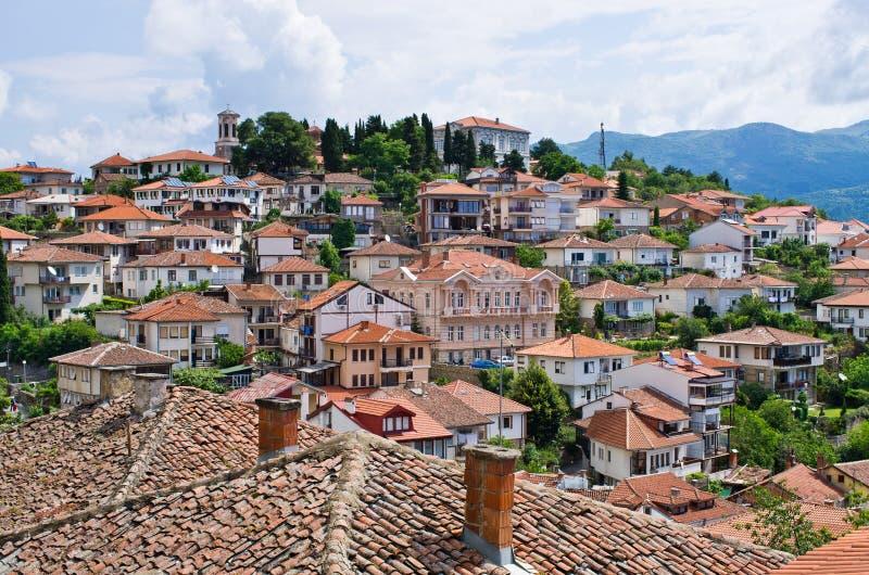 奥赫里德镇在马其顿 库存图片