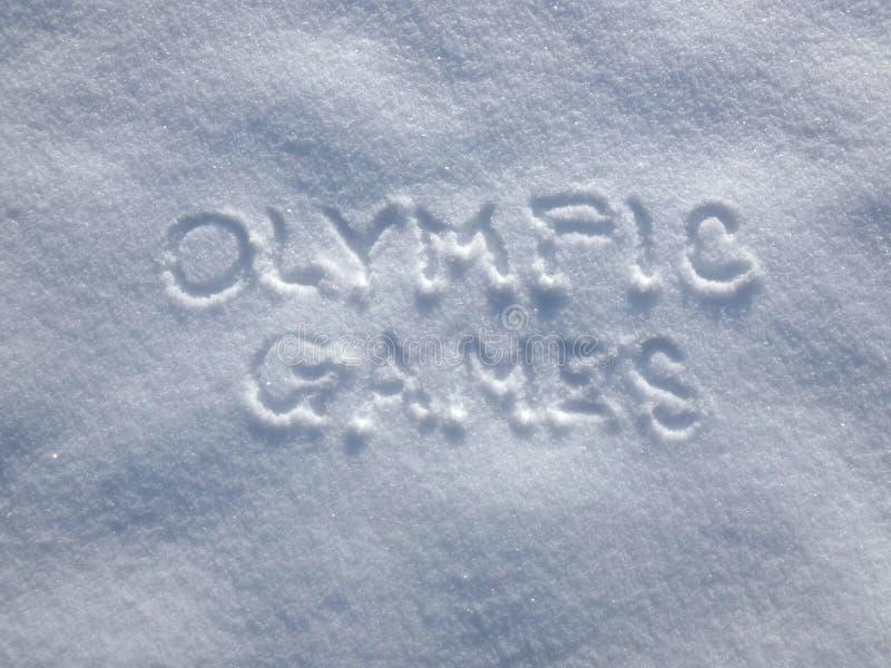 奥运会-雪写道 库存照片