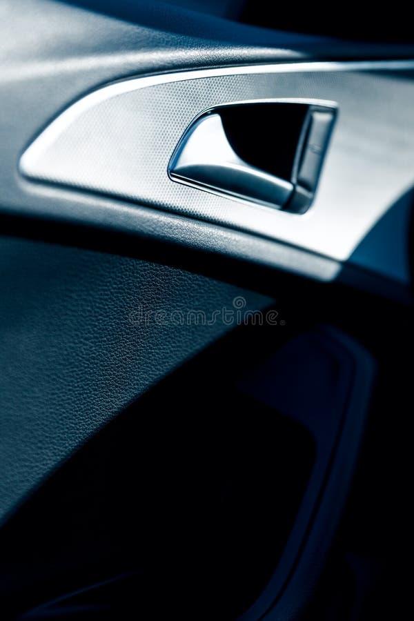 奥迪A6的内部 免版税库存图片