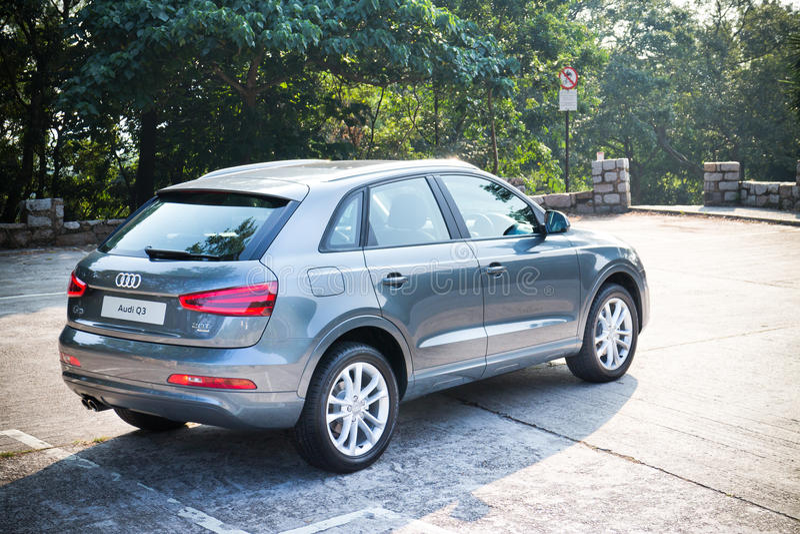 奥迪Q3 SUV 2013模型 免版税库存照片