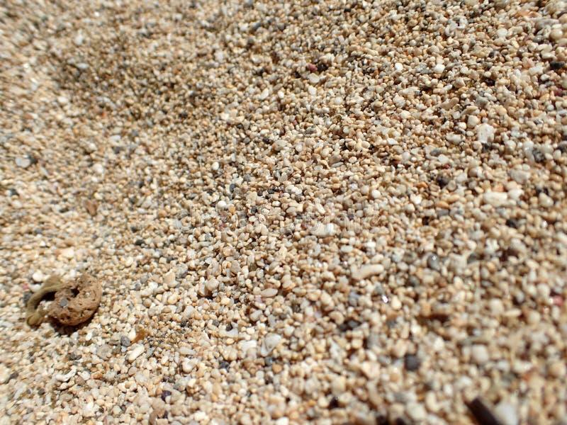 奥阿胡岛海滩沙子五谷  免版税库存照片