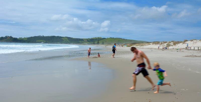 奥马哈海滩-新西兰 免版税库存图片