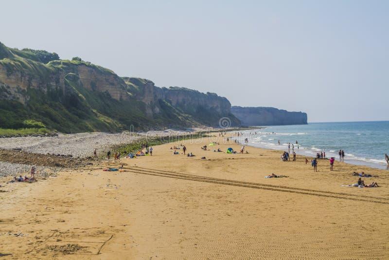 奥马哈海滩 免版税库存照片