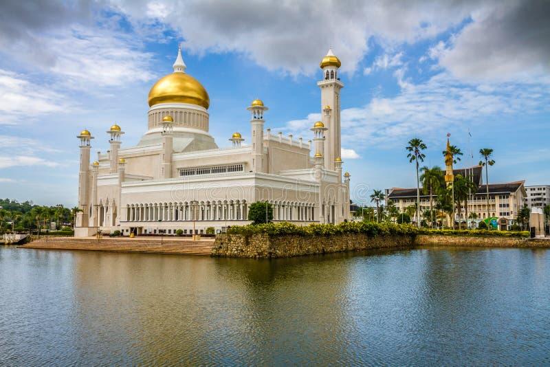 奥马尔阿里Saifudding清真寺班达尔Begawan的Seri 库存照片