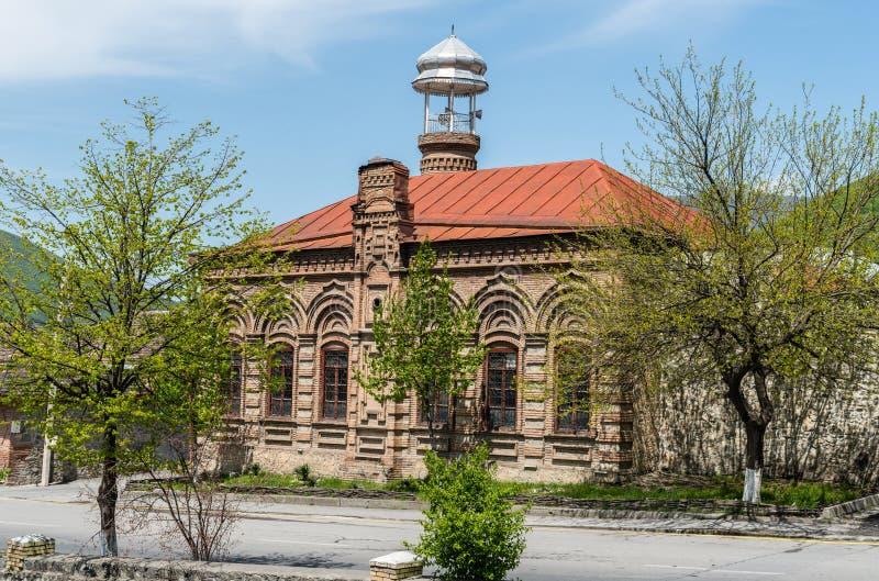 奥马尔Efendi清真寺在Sheki,阿塞拜疆 免版税图库摄影