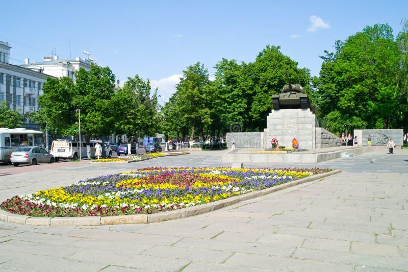 奥廖尔州 和平正方形 库存图片