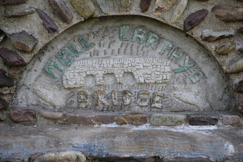 女人Carthys桥梁标志黄柏爱尔兰 库存照片