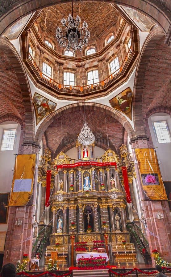 女修道院圣母无染原罪瞻礼尼姑圣米格尔德阿连德墨西哥 免版税库存图片