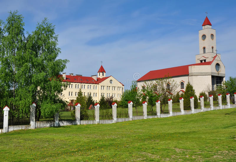 女修道院的疆土在巴拉诺维奇 图库摄影
