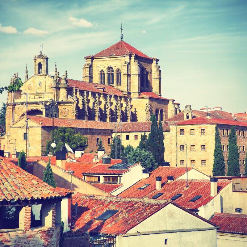 女修道院esteban萨拉曼卡圣 库存照片
