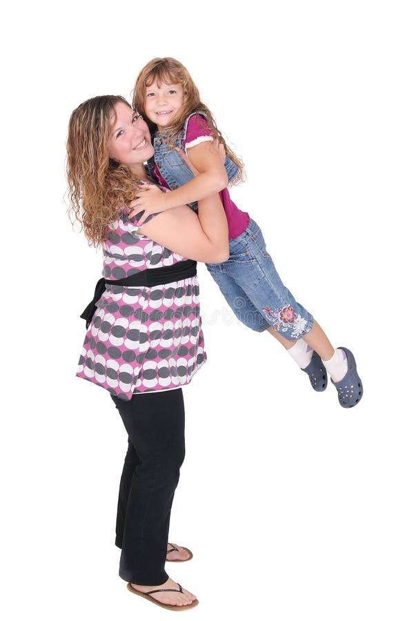 女儿乐趣母亲 免版税库存照片