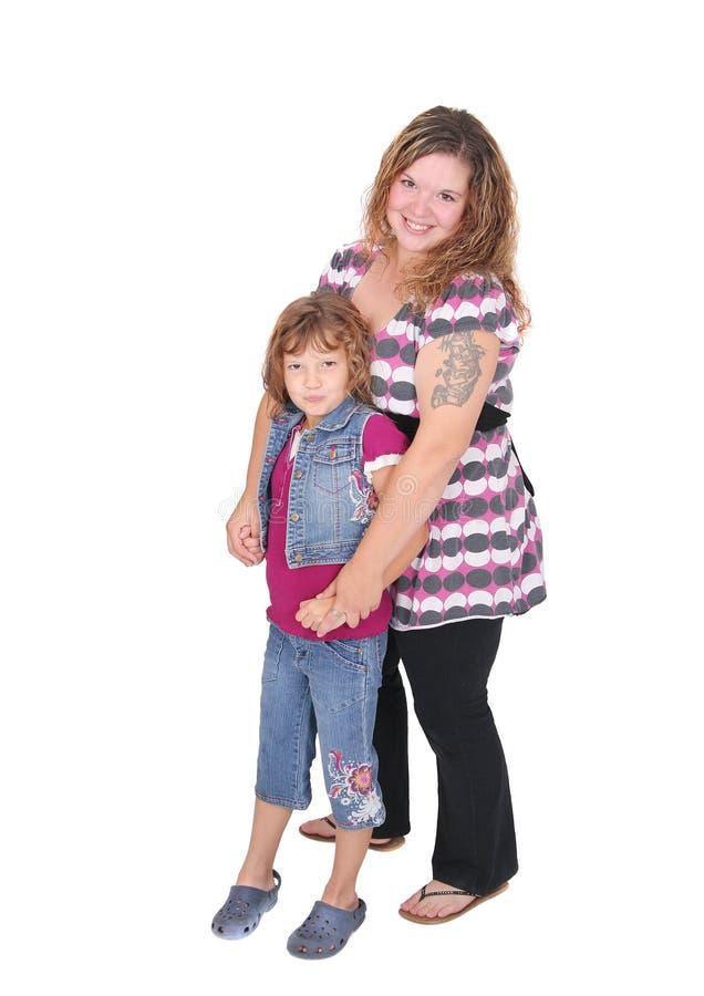 女儿全长妈妈 免版税库存图片