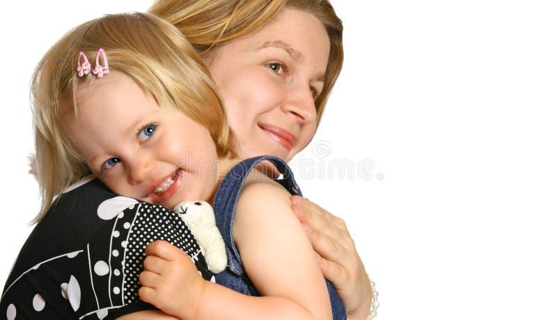 女儿她的妈妈小孩 图库摄影