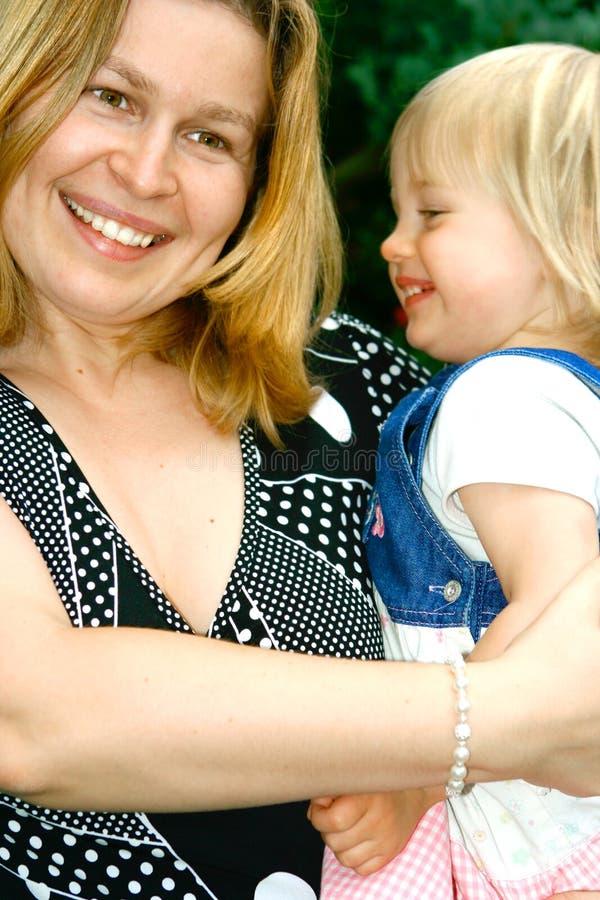 女儿她的藏品妈妈小孩 免版税库存照片