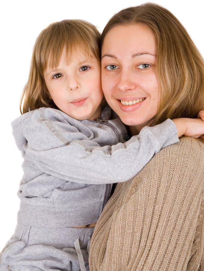 女儿小的母亲年轻人 库存图片