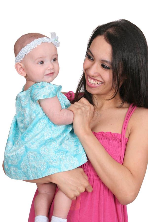 女儿母亲年轻人 免版税库存图片