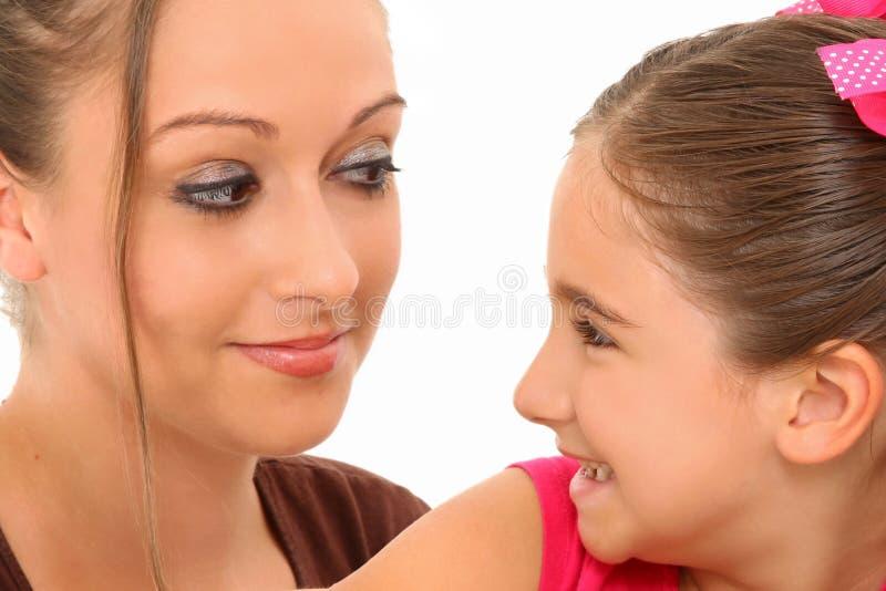 女儿母亲 库存照片