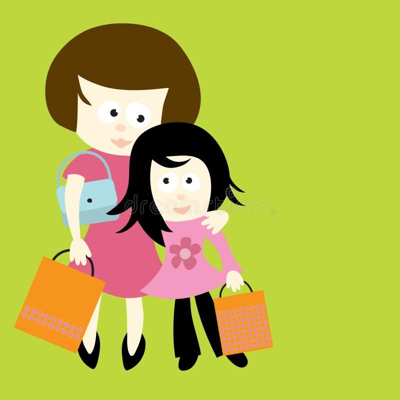 女儿母亲 向量例证