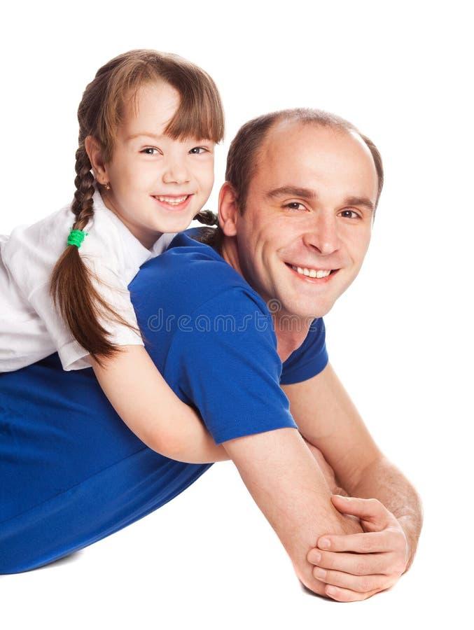 女儿父亲 图库摄影