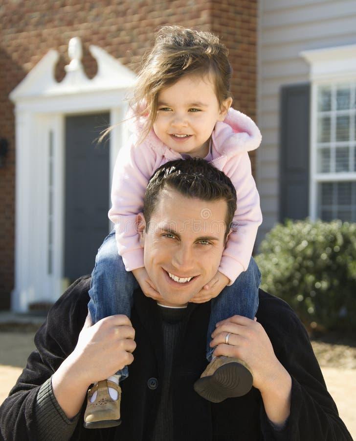 女儿父亲 免版税库存图片