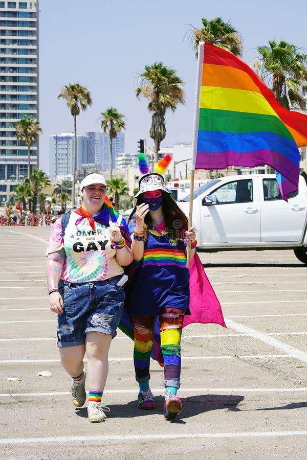 女同性恋者和同性恋者游行  ?? 免版税库存图片