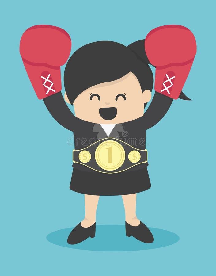 Download 女商人优胜者 向量例证. 插画 包括有 动画片, 愉快, 成人, 商业, 蓝色, 冠军, 设计, 办公室 - 62527902