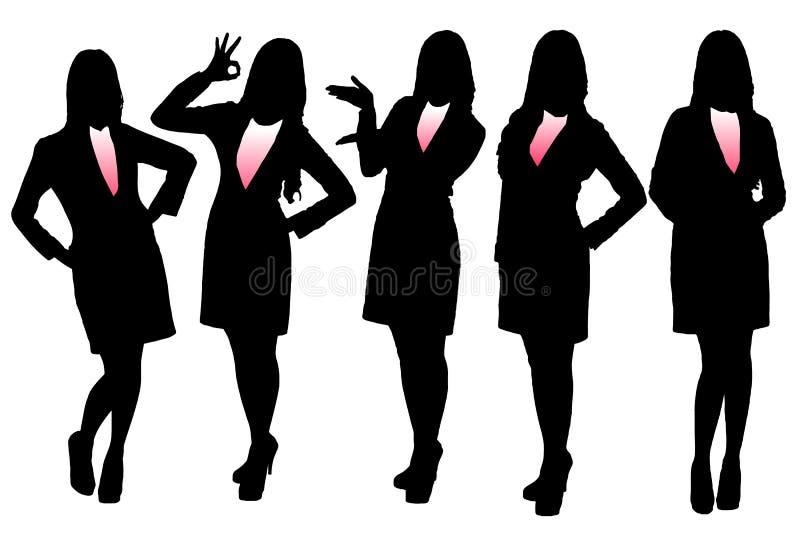 女商人剪影  向量例证