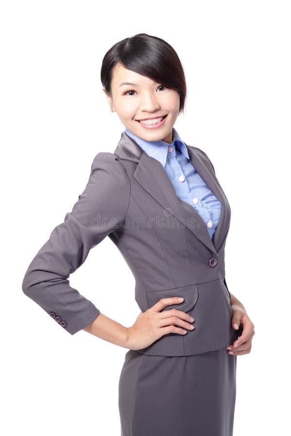女商人微笑 免版税库存照片