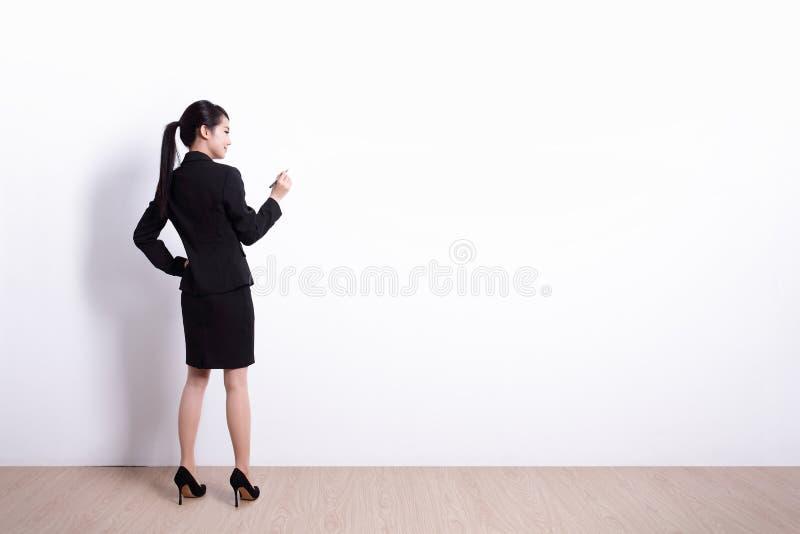女商人文字 免版税库存照片