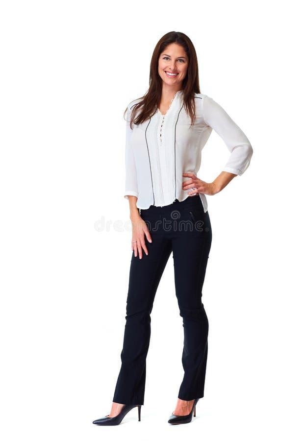 女商人白色背景 免版税库存图片