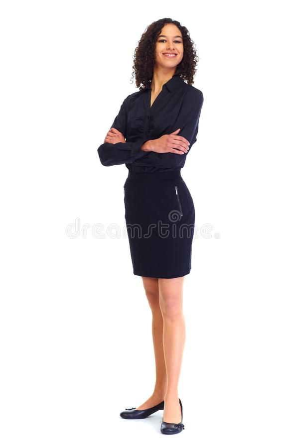 年轻女商人白色 库存照片