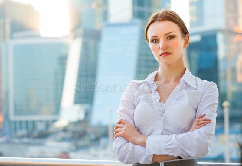 年轻女商人 免版税库存照片