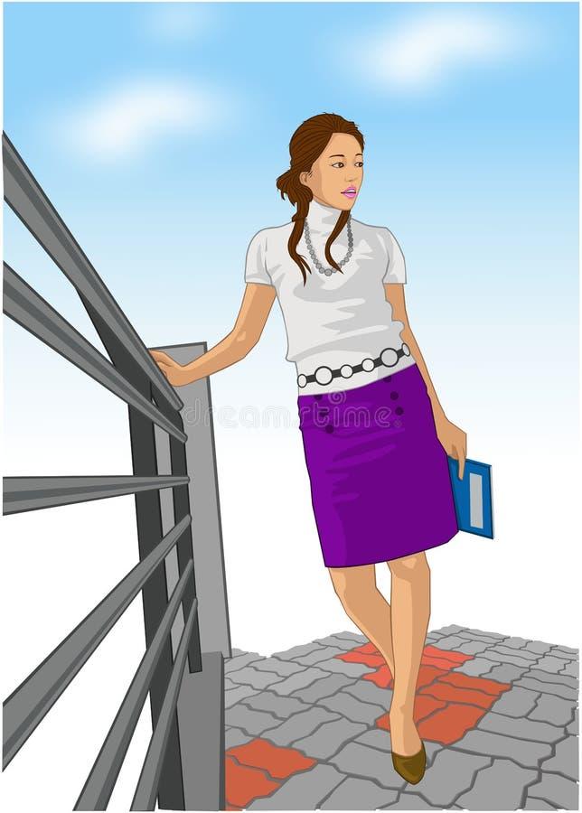 女商人 向量例证