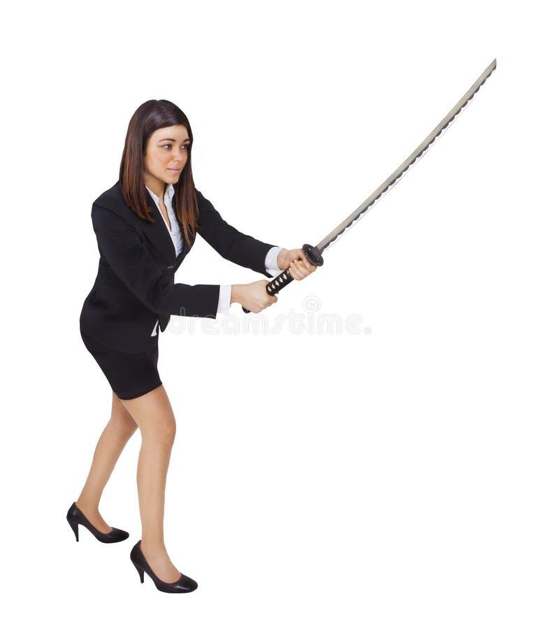 女商人ninja 免版税库存照片