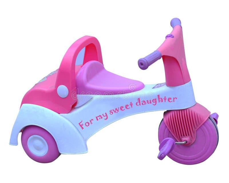 女婴三轮车 免版税库存图片