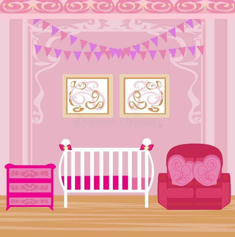 女婴室 向量例证