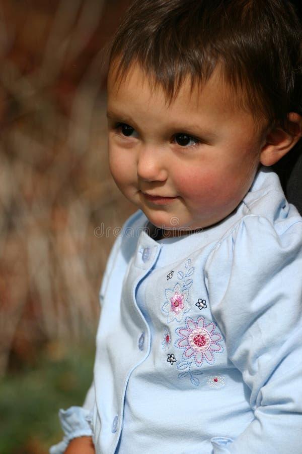 女婴小孩 免版税库存照片
