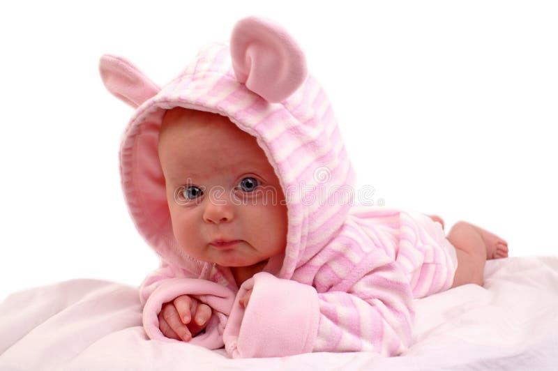 女婴月纵向三 库存图片