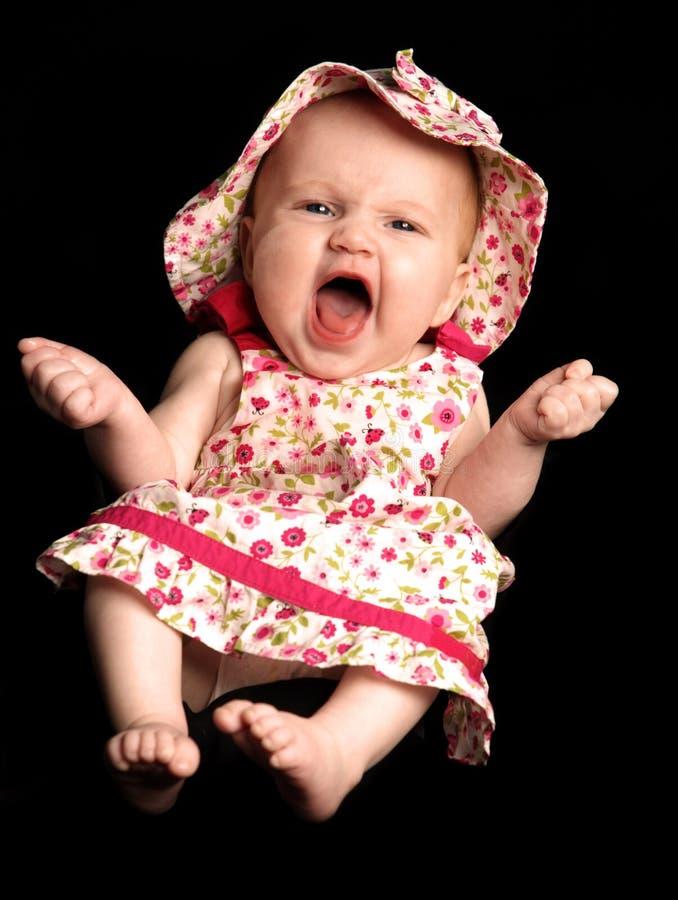 女婴笑 免版税库存照片