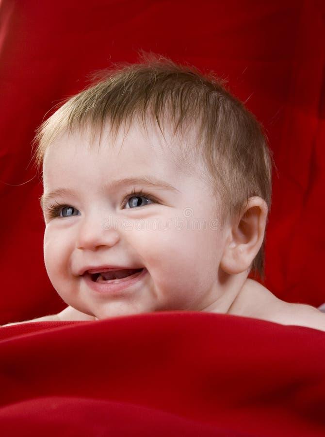 女婴红色 免版税库存照片