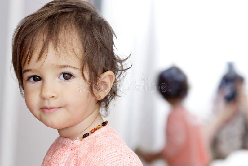 女婴纵向 免版税图库摄影